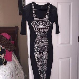 Black and white dress rue 21